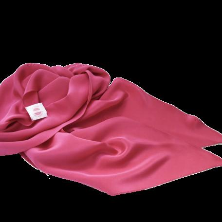 extra long silk scarf fuschia