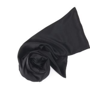 silk scarf black color