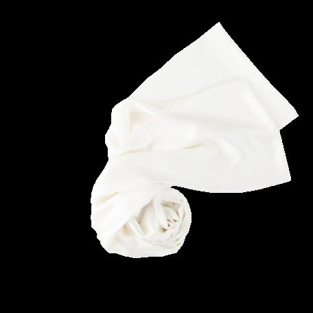 long silk satin scarf white