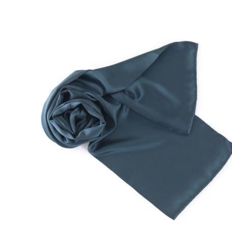 silk scarf deep blue