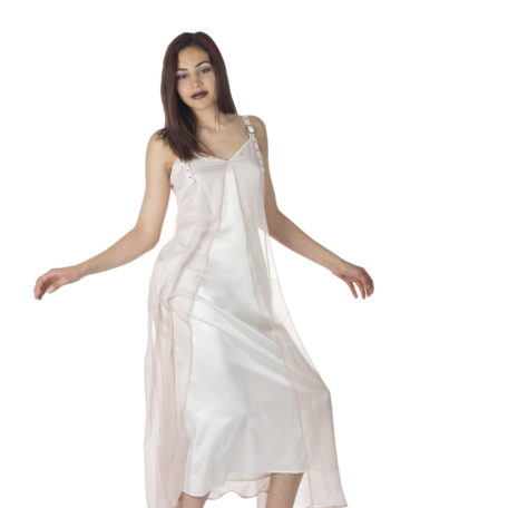 robe-nuisette-soie-rose-blanc