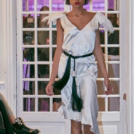 12-Robe en soie _ robe de soirée sur mesure années 20 blanche façon ange