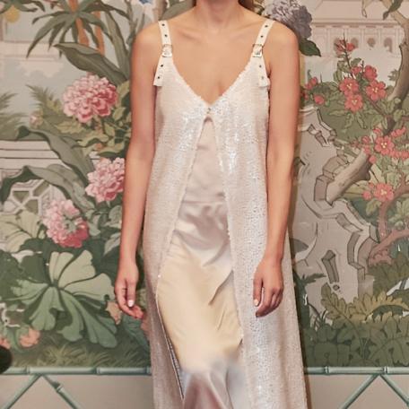 15-Robe en soie pour Lune de Miel sur-mesure ou pour demoiselles d'honneur blanche