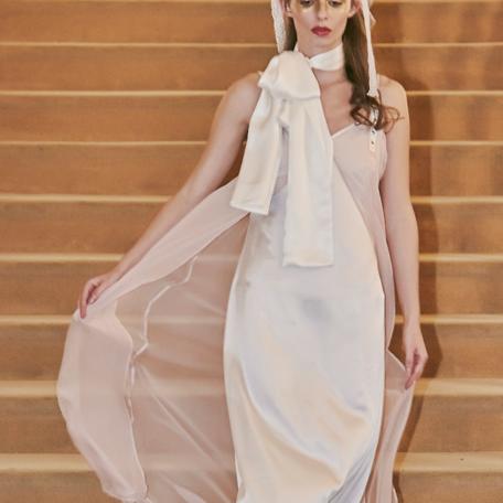 2-Robe en soie – Lune de Miel Rose