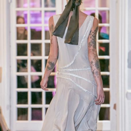 4-Robe en soie _ robe de soirée sur mesure années 20 blanche