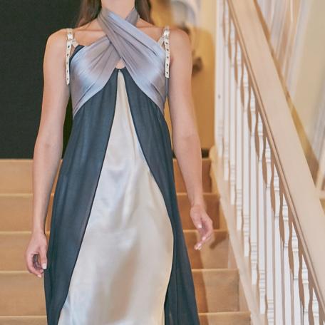 5-Robe en soie – Robe en soie _ Robe de Lune de Miel Bleu