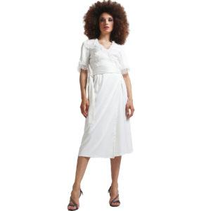 Négligé de soie blanc