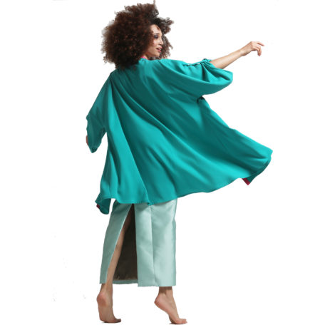 veste kimono foxtrot presque de dos fond blanc